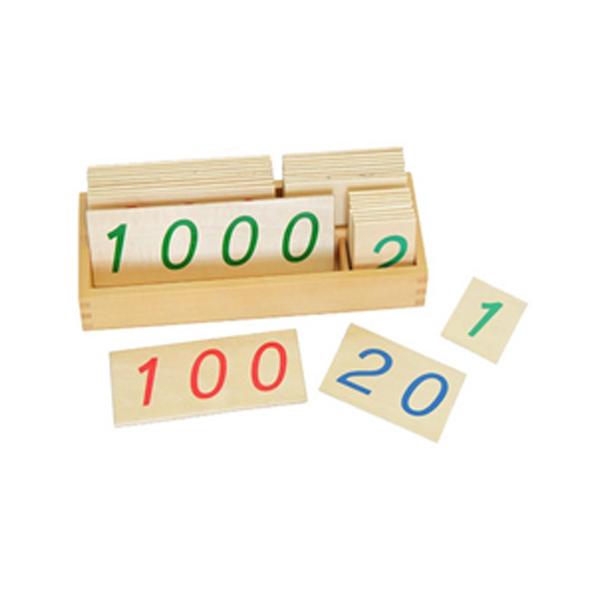 Thẻ số gỗ lớn (1-9000)